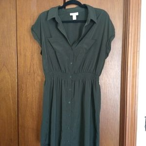 Target Olive Green Military Dress